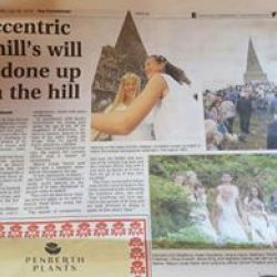 Knill Monument Newspaper