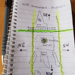 Knill Monument Drawn Map